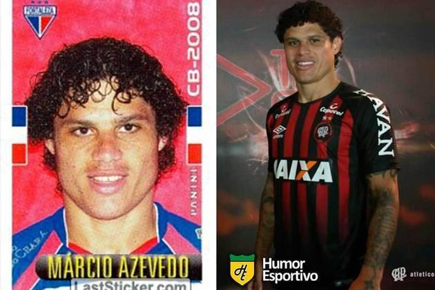 Márcio Azevedo jogou em 2008 pelo Fortaleza. Inicia o Brasileirão 2021 com 35 anos e defendendo o Athletico Paranaense.