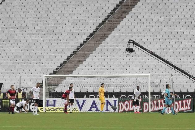 Março - A equipe não engrenava e somava resultados ruins, até que o futebol foi interrompido por conta da pandemia de coronavírus. Naquele momento, o Corinthians brigava contra o rebaixamento no Paulistão e estava praticamente eliminado da competição. No mesmo período, foi anunciada a venda de Pedrinho ao Benfica-POR.