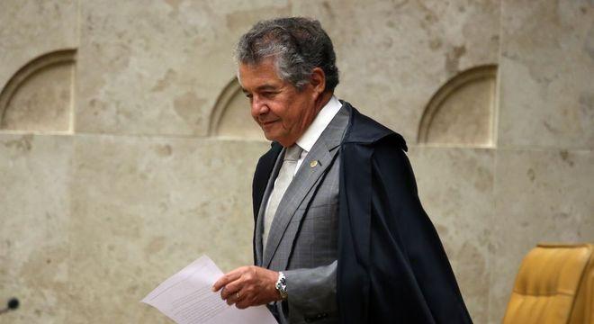 Na imagem, o ministro do STF Marco Aurélio Mello