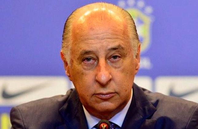 MARCO POLO DEL NERO assumiu a presidência da CBF em abril de 2015. Indiciado pela Justiça dos Estados Unidos, licenciou-se do cargo em dezembro do mesmo ano.
