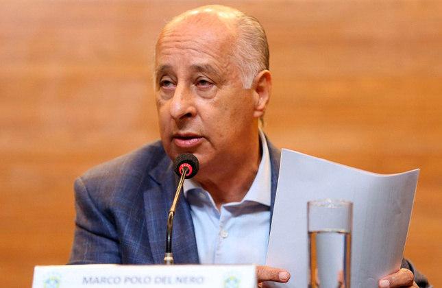 MARCO POLO DEL NERO retornou da licença em abril de 2016. Devido às investigações na Justiça americana, evitava viagens ao exterior. Deixou o posto em dezembro de 2017, quando foi banido pela Fifa em caráter provisório. Foi banido do futebol para sempre em 2018.