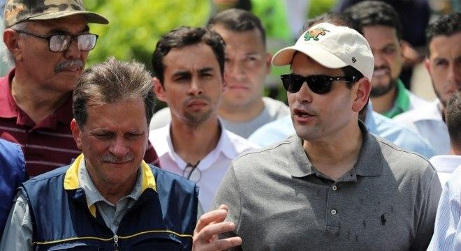 Delegação é liderada por senador norte-americano Marco Rubio