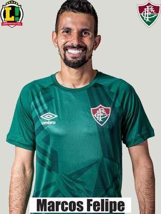 Marcos Felipe - 5,5 - O goleiro fez um jogo seguro nas vezes em que o adversário arriscou a finalização. No lance do gol do Fortaleza, o arqueiro não teve culpa, já que Marcelo Benevenuto subiu sozinho.