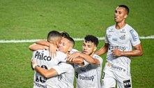 Com gol contra, Santos vence Athletico-PR na Vila e entra no G-6