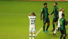 Santos desperdiça chances e perde para o América-MG no Brasileirão