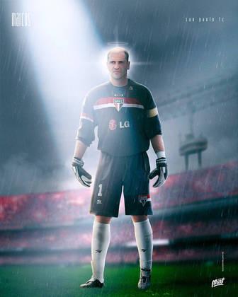 Marcos, ídolo do Palmeiras, com a camisa do São Paulo.
