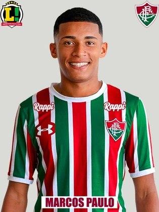 Marcos Paulo - 6,5 - Apareceu bem no ataque e novamente foi importante na marcação, especialmente com Egídio mal na esquerda. No entanto, perdeu as duas melhores chances criadas pelo Fluminense no primeiro tempo.