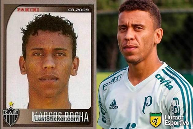 Marcos Rocha jogou pelo Atlético-MG em 2009. Inicia o Brasileirão 2021 com 32 anos e jogando pelo Palmeiras.