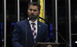 Rodrigo Pacheco, que foi eleito presidente do Senado, deixa a função de líder do DEM, ocupada agora por MarcosRogério (RO)