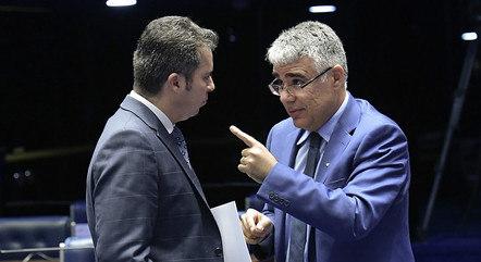 Na imagem, Marcos Rogério e Eduardo Girão