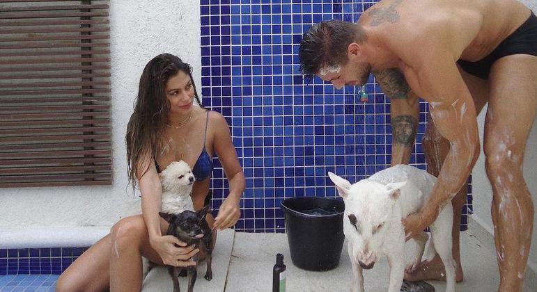 Mari Gonzalez e Jonas Sulzbach perdem o cachorro após ataque