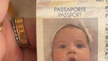 Filha de Virginia e Zé Felipe emite primeiro passaporte aos 2 meses