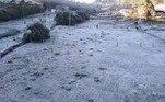 A baixa temperatura em Maria da Fé fez a paisagem