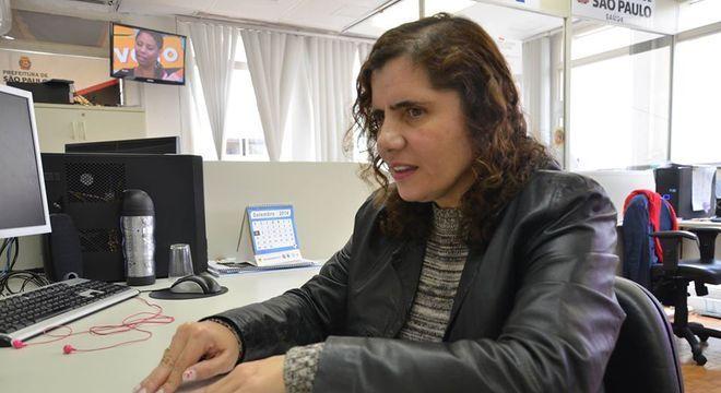 Maria Lúcia na Secretária Municipal de Saúde, onde trabalha