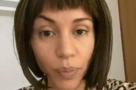 No hospital, Maria falou com internautas por vídeo