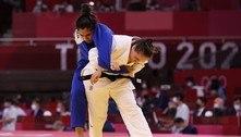 Maria Portela vence judoca refugiada em 28 segundos