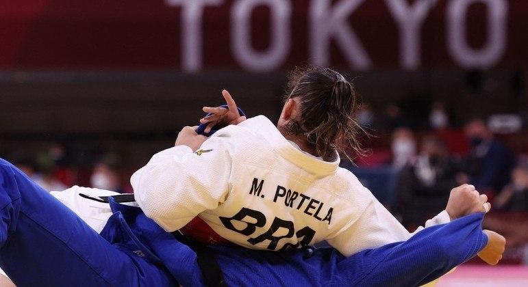 Maria Portela competiu na categoria até 70 kg