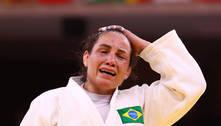 Maria Portela perde no judô após lutar por 15 minutos e chora