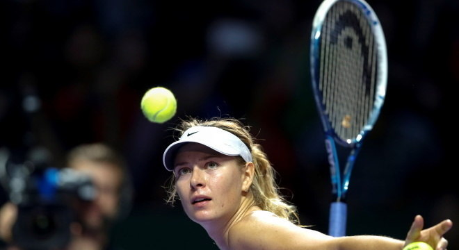 Sharapova conquistou cinco torneios Grand Slams