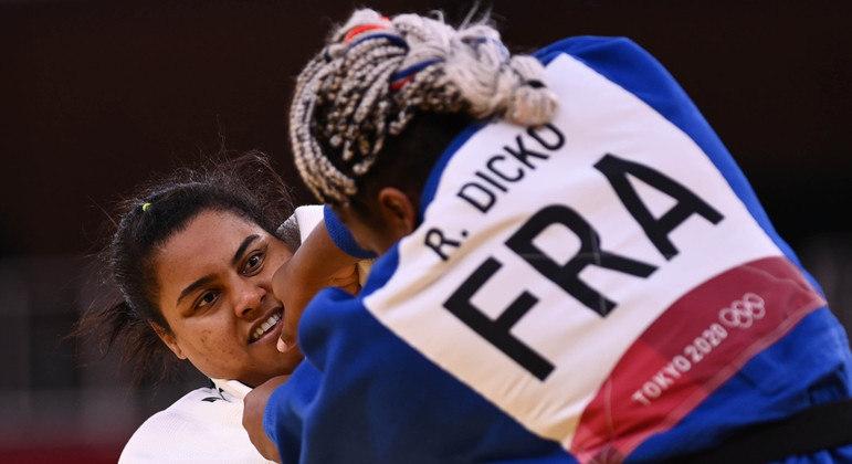 Maria Suelen perdeu para judoca da França