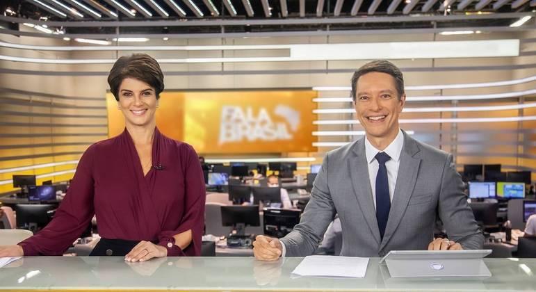 Mariana Godoy e Sergio Aguiar comandam o Fala Brasil