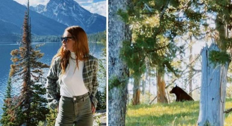 Marina Ruy curte férias na montanha