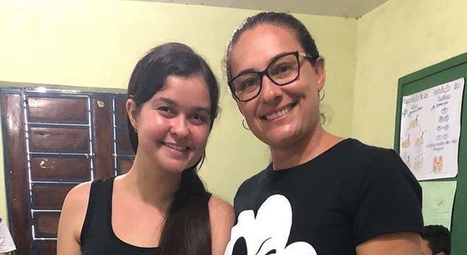 Mariane Rocha e Maura Silva promoveram a dinâmica em escola no Piauí e se surpreenderam com o que ouviram dos alunos