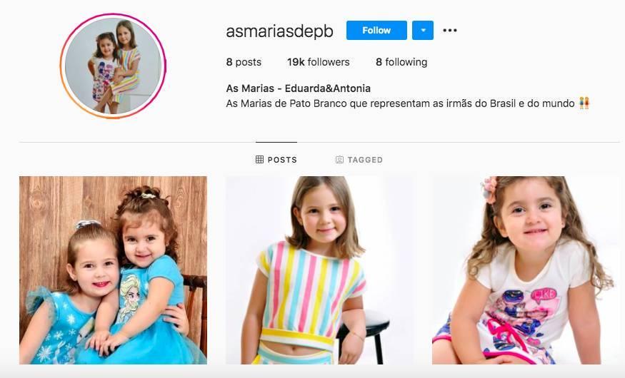 Irmãs se tornaram sucesso imediato no Instagram