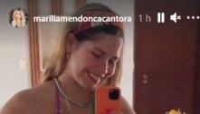 Mais magra, Marilia Mendonça posa de biquíni em férias na Bahia