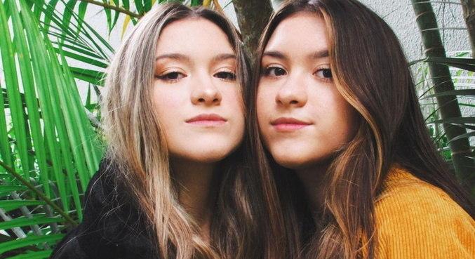 Marina e Sofia Liberato tem, juntas, mais de 800 mil seguidores nas redes sociais