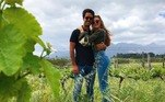 Marina e Xande ficaram hospedados em hotéis de luxo e compartilharam momentos da viagem nas redes sociais com os fãs e seguidores