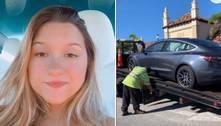 Filha de Gugu Liberato tem carro de luxo de R$ 260 mil guinchado