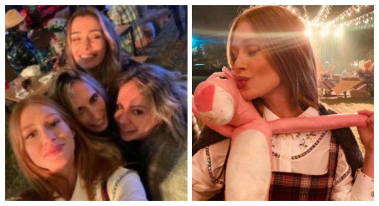 """""""Mônica Martelli, uma das convidadas da festa de Marina, também foi criticada"""""""