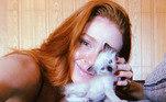 O gatinho João foi adotado de uma ninhada resgatada pela atriz: 'Que sorte a minha'