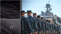 Marinha dos EUA admite veracidade de imagens de perseguição a OVNIs (Montagem/R7)