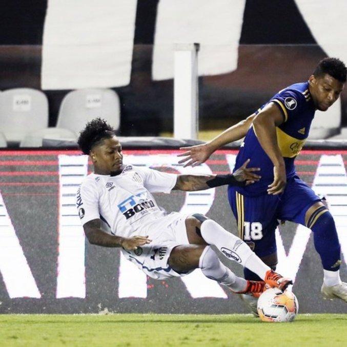 Marinho enlouqueceu a defesa do Boca Juniors. Melhor jogador do Brasil