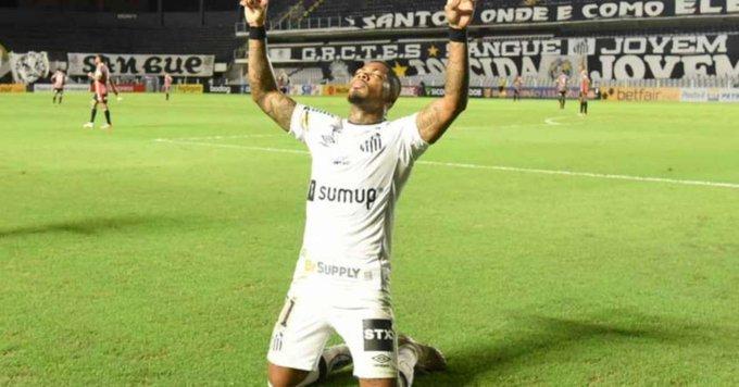Marinho marcou o primeiro gol. Presidente do Santos confirmou que ele pediu para ser vendido