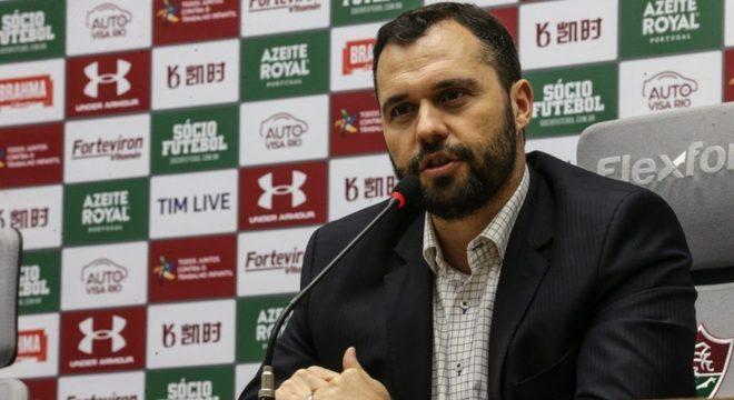 O presidente do Fluminense, Mario Bittencourt. Porta-voz dos clubes