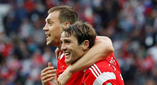 Mario estreou na Copa da Rússia com vitória folgada contra Arábia Saudita
