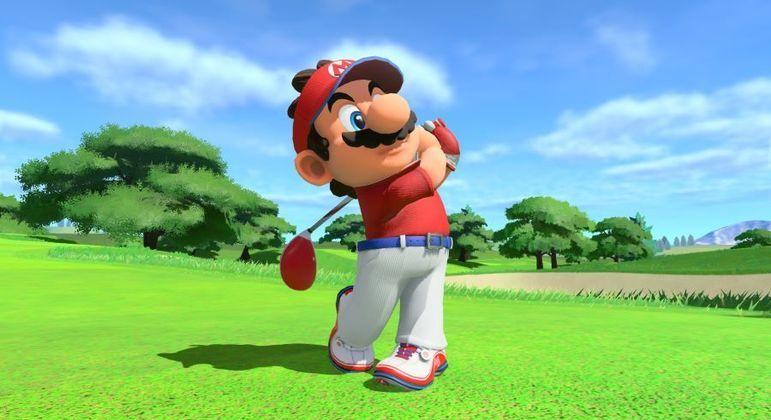 Mario adora jogar golf com seus amigos