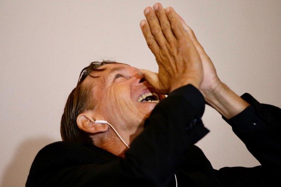 Marivaldo, o vitorioso brasileiro, na premiação The Best deste ano. Torcedor do Sport