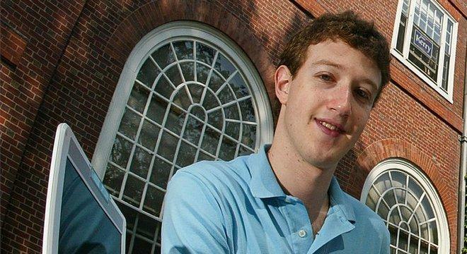 Mark Zuckerberg em foto de 2004, ano em que lançou o Facebook
