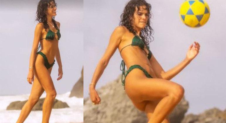 Modelo de biquíni usado por atriz pode ser encontrado na faixa de R$ 60,00