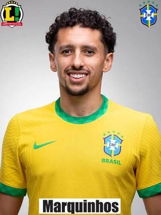 Marquinhos - 6,0 - Marcou o gol de empate do Brasil, foi seguro na defesa mas falhou no gol sofrido da equipe.