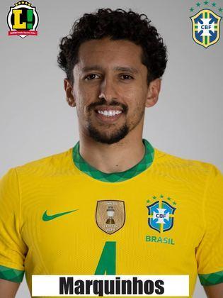 Marquinhos - 7,0 - Foi inteligente no escanteio e mostrou oportunismo para fazer o primeiro gol da partida.