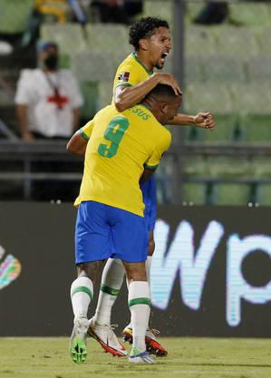 Marquinhos fez o primeiro do Brasil contra a Venezuela