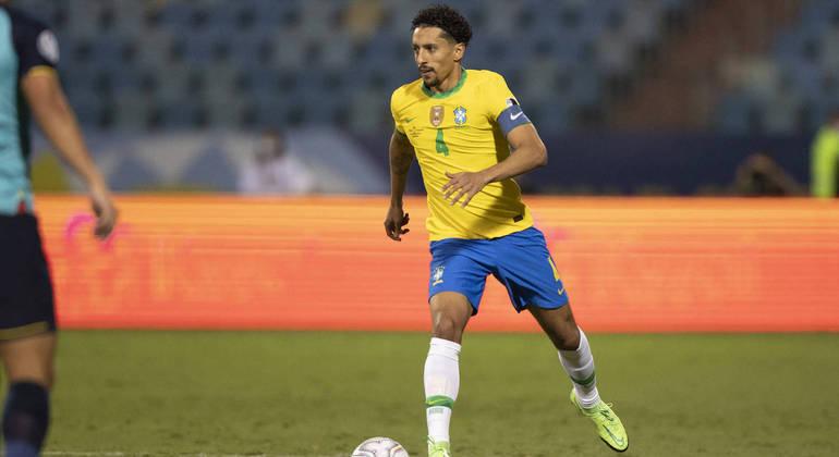 """Marquinhos admite """"falta de ritmo"""" em empate do Brasil com o Ecuador na Copa América"""