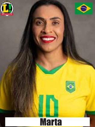 Marta - 9,0 - Camisa 10 balançou as redes duas vezes e comandou a vitória brasileira. Agora, a Rainha tem 12 gols em Jogos Olímpicos.
