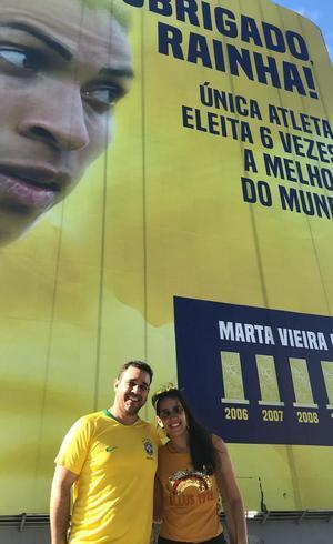 Casal gostou da surpresa no Rio