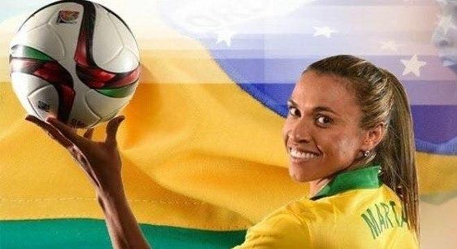 Cinco vezes melhor do mundo, Marta vira embaixadora da Onu no esporte